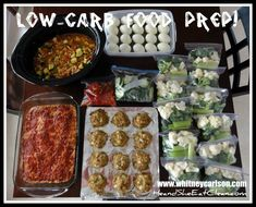 Clean Eating. Low Carb Food Prep.