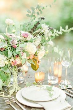 Rustic garden wedding inspiration | Photo by Christopher Nolan Photography | Read more - http://www.100layercake.com/blog/?p=77804 #Rustic #garden #wedding