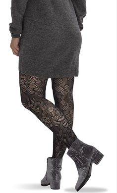 HUE Daisy Lace Fashion Tights - See more tights at www.fashion-tights.net ‪#tights #pantyhose #hosiery #nylons #fashion #legs‬ #legwear #advertising #influencer #collants