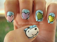 Snoopy - Nail Art Gallery by NAILS Magazine