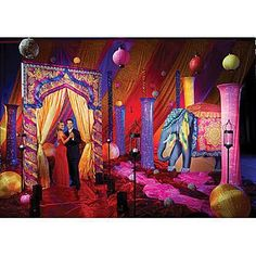 Our Escape to India Theme Kit will bring the mystical elegance of the orient to your party venue. One of our inspirations for an Aladdin-themed Quince India Theme Party, Indian Party Themes, Indian Theme, Arabian Nights Prom, Arabian Party, Arabian Nights Theme, Arabian Tent, Arabian Decor, Dance Party Decorations
