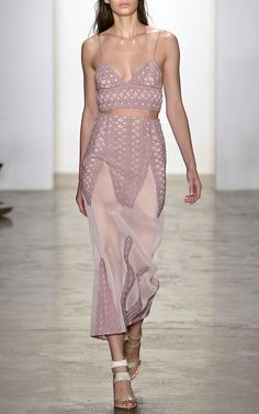 Tread Lace Inset Angel Skirt by Jonathan Simkhai for Preorder on Moda Operandi