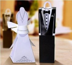 Bride and Groom Favor Boxes#nutsdotcom #wedding