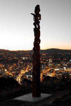 Wonderful Mana Māori here - Mt Victoria, Wellington, New Zealand (Maori carving) Capital Of New Zealand, New Zealand North, New Zealand Travel, Places Around The World, The Places Youll Go, Around The Worlds, Wellington New Zealand, Maori People, New Zealand Houses