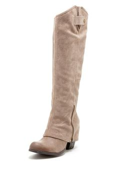 Fergie Ledger Too Almond Toe Tall Boot