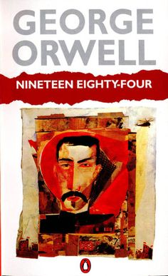 Nineteen Eighty-Four by George Orwell - Down with Big Brother George Orwell, Book Cover Design, Book Design, Great Books, My Books, Music Books, Nineteen Eighty Four, Penguin Books, Book Worms