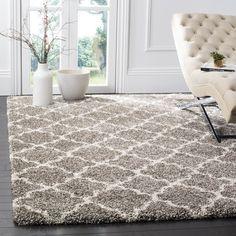 Safavieh Hudson Quatrefoil Shag Grey/ Ivory Rug (9' x 12') | Overstock.com Shopping - The Best Deals on 7x9 - 10x14 Rugs