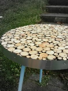 Table made from sticks.  Thanks to Amanda with Simply Homemade blog.