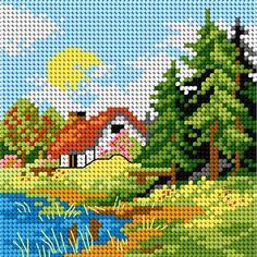 Brilliant Cross Stitch Embroidery Tips Ideas. Mesmerizing Cross Stitch Embroidery Tips Ideas. Cross Stitch House, Cross Stitch Kits, Cross Stitch Designs, Cross Stitch Patterns, Cross Stitching, Cross Stitch Embroidery, Cross Stitch Cushion, Cross Stitch Landscape, Beaded Cross