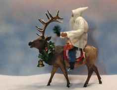 German-style Santa~BREYERS ELK~German-Dresden trim~OOAK