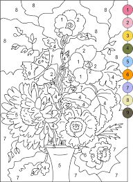 Download and print these Printable Color By Number coloring pages