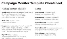 Campaign Monitor Cheat Sheet