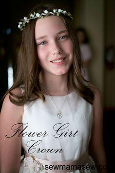 Flower Girl Crown Tutorial || Sew,Mama,Sew!