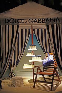 Saks Fifth Avenue NYC 2013 Cabanas for a Beach Themed Event | via windowswear.com