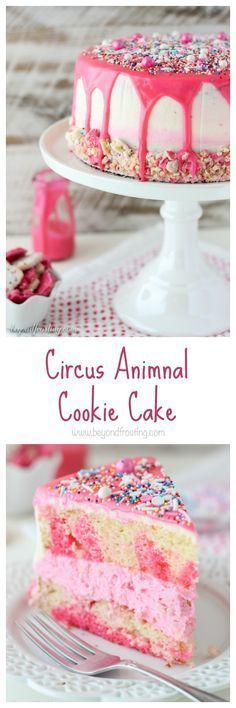 It's BIRTHDAY WEEK!  Let's celebrate with cake!  Brings me back to my childhood.  Did you eat Circus Animal Cookies?