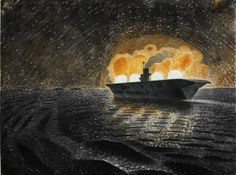 ART & ARTISTS: Eric Ravilious – part 2 / HMS Ark Royal in Action 1940