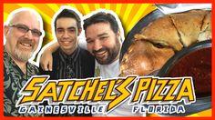 Satchel's Pizza, Gainesville Florida - 3 Calzones with Gainesville Florida, Calzone, Food Reviews, Satchels, Family Meals, Food Videos, Beverage, Restaurants, Pizza