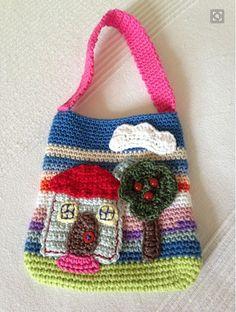 Little girl crochet bag - Aimée