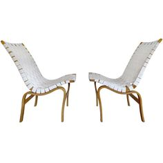 Pair Bruno Mathsson Eva Chairs | From a unique collection of antique and modern lounge chairs at http://www.1stdibs.com/seating/lounge-chairs/