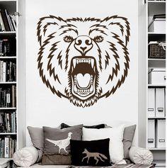 Wall Decal Grizzly Bear Animal Predator Bedroom Decor Art Vinyl Sticker MR711 #Stickalz