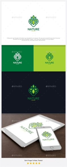 Nature Love Logo  — PSD Template #green #eco • Download ➝ https://graphicriver.net/item/nature-love-logo/18602010?ref=pxcr