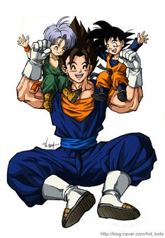 Vegito with his sons