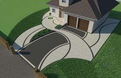 Inspect this link right here based on Front Landscaping Ideas Landscape Model, Landscape Design Plans, Concrete Paver Patio, Driveway Landscaping, Landscaping Ideas, Front Yard Design, Paint Colors For Home, Modern Exterior, Garden Planning