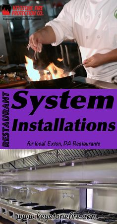 Restaurant System Installations Exton, PA (215) 641-0100 We're Keystone Fire Protection. Call Today and Discover the Complete Source for all Your Fire Protection!
