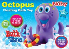 kids bath toy fun Nuby Octopus Multi Colour baby bathtime toys playtime bathroom