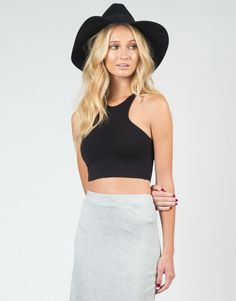 Racer T-Back Cropped Tank $16 #NewOnTheAVE