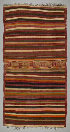 Floor rug from Douiret, Tataouine governorate, Tunisia Textile Texture, African Textiles, Fabric Rug, Magic Carpet, Tribal Rug, Tapestry Weaving, Home Textile, Textile Design, Floor Rugs