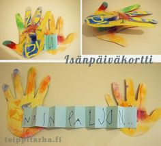 Rakastan sinua NÄIN PALJON! Isänpäiväksi. Diy And Crafts, Crafts For Kids, Future Jobs, Autumn Crafts, Fathers Day Cards, Mother And Father, Wraps, Cool Drawings, Handicraft