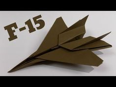 How To Make an Paper Airplane ✈ Origami Jet Fighter Plane (Tadashi Mori) Origami Ball, Instruções Origami, Origami Aeroplane, Origami Plane, Paper Airplane Steps, Airplane Crafts, Cool Paper Crafts, Paper Crafts Origami, Origami Design