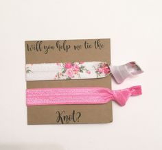 A personal favorite from my Etsy shop https://www.etsy.com/listing/464412177/bridesmaid-hair-tie-favorswhite-rose