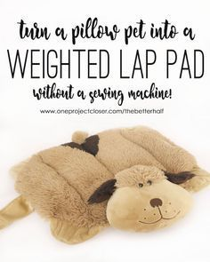 DIY Weighted Lap Pad Using a Pillow Pet!
