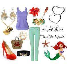 Ariel The Little Mermaid Inspired Outfit #disney #princess #ariel #mermaid