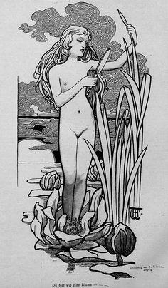 1896 Jugend 207 Thou art like a flower | Flickr - Photo Sharing!