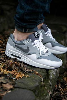 03ab35be92bc Nike Air Max 1 Premium - white grey dk grey Cheap Nike