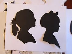Making silhouettes of your kids is really quite easy with this tutorial!