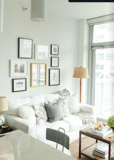 Gray/white/natural living room