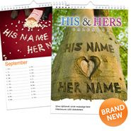 Personalised  Calendar  -  His  &  Hers  for Personalized Gifts