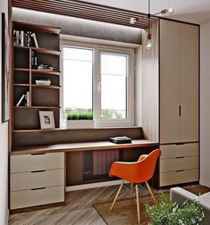 office furniture - Creating a home office is a mix between functional decor and fashionable interior design ideas. The home office should be a place thats designed for . Small Home Office Furniture, Cozy Home Office, Home Office Storage, Home Office Organization, Organization Ideas, Storage Ideas, Modern Home Offices, Modern Office Decor, Home Office Decor