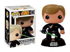 Cabezón Luke Skywalker (Jedi) 9 cm. Star Wars. Línea POP!. Funko