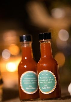 Hot Sauce wedding favors ~  love your wedding day! DIY ideas for your wedding day ~ look through pinterest wedding photo ideas and then create your themed wedding favors at dasweetzpot.com