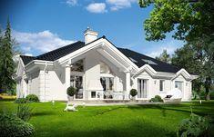 Rezydencja Parkowa 3 on Behance Bungalow Floor Plans, Modern Bungalow House, Home Design Floor Plans, My House Plans, Luxury House Plans, Interior Modern, Home Interior, Kitchen Interior, Interior Design