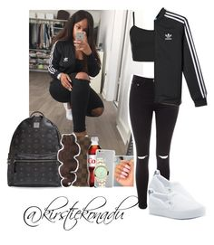 Sherlinanym set | black and white ⚫️⚪️ | like and comment ✨ by kirstiekonadu on Polyvore featuring polyvore, fashion, style, Topshop, Glamorous, adidas Originals, MCM, Case-Mate, Louis Vuitton and adidas