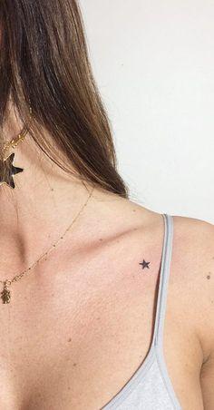 Geometrical Best Minimalist Tattoo Ideas 2019 - Page 12 of 41 - tracesofmybody .com - tattoo designs;small tattoos for women;cute tattoos s - Small Star Tattoos, Cute Small Tattoos, Mini Tattoos, Tattoos For Women Small, Unique Tattoos, Beautiful Tattoos, Cool Tattoos, Female Tattoos Small, Tatoos