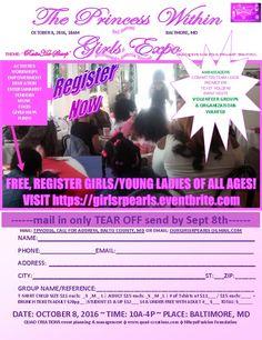 Free registration https://girlsrpearls.eventbrite.com