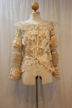 Custom Made Victorian Lace Jacket by Madabby on Etsy, $178.00