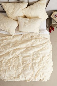 Find the bedding of your dreams at Anthropologie. Shop unique bohemian bedding, textured and feminine styles. Cream Bedding, Queen Bedding, Comforter, Bohemian Bedding Sets, Anthropologie Bedding, Restoration Hardware Bedding, Welcome To My House, Luxury Bedding Collections, Spare Room